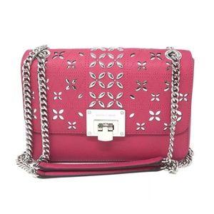 Michael Kors Tina Stud Medium Shoulder Bag Pink